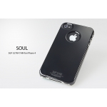 SGP iPhone 4 Case Ultra Thin Pastel Series [Soul Black] (SGP06922)